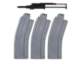 CMMG Rimfire Conversion Kit AR-15 with Three 26-Round Magazines 22 Long Rifle Matte