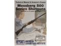 American Gunsmithing Institute (AGI) Technical Manual &amp; Armorer&#39;s Course Video &quot;Mossberg 500 Series Shotguns&quot; DVD