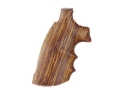 Hogue Fancy Hardwood Grips with Finger Grooves Colt Trooper Mark III