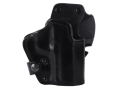 Product detail of Front Line LKC 3-Layer Belt Holster Right Hand HK USP 9/40 Suede Lined Leather and Kydex Black