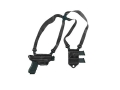 Galco Miami Classic 2 Shoulder Holster System Right Hand Glock 17, 19, 22, 23, 26, 27, 31, 32, 33, 34, 35 Leather Black