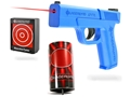 LaserLyte Combo Kit Full Size Trigger Tyme Laser Trainer Pistol, Reaction Tyme Target and Plinking Can Target