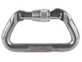 Omega Pacific Anodized Aluminum Standard D Carabiner Screw-Lok Silver