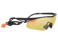 Product detail of Real Avid Shooter Shields Shooting Glasses With Corded Ear Plugs Hi-Vis Yellow Lens