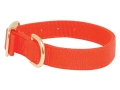 "Mud River Scout Adjustable Buckle Dog Collar Large 19""-23"" Nylon Blaze Orange"