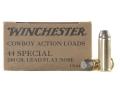 Winchester USA Cowboy Ammunition 44 Special 240 Grain Lead Flat Nose