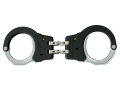 ASP Model 200 Hinged Handcuffs High Carbon Steel with Polymer Over-molded Frame Black