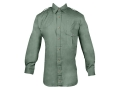 Boyt Men's Shumba Shell Loop Safari Shirt Long Sleeve Cotton Poplin Green XL 46-48