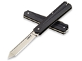 "CRKT Art Deco Folding Pocket Knife 2.24"" Tanto Point 8Cr14MoV Blade G-10 Handle Black"