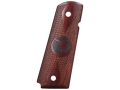 Nighthawk Custom Double Diamond Grips 1911 Government, Commander with Nighthawk Logo Checkered Cocobolo