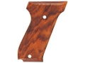 Product detail of Hogue Fancy Hardwood Grips S&W 39, 52, 439, 539 and 639 Checkered Cocobolo
