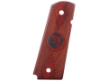 Nighthawk Custom Thin Double Diamond Grips 1911 Government, Commander with Nighthawk Logo Checkered Cocobolo