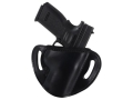 "El Paso Saddlery #88 Street Combat Outside the Waistband Holster Right Hand Springfield XD 9/40 Service 4"" Leather Black"