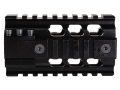 ERGO 2-Piece Z Rail Free Float Handguard Quad Rail AR-15 Aluminum Black