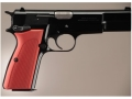 Hogue Extreme Series Grip Browning Hi-Power Checkered Aluminum Matte Red