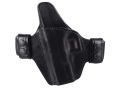 Bianchi Consent Outside the Waistband Holster Left Hand Glock 19, 23, 32 Leather Black