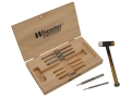 Wheeler Engineering Hammer with Interchangeable Brass, Nylon, Steel Heads and Punch Set 7-Piece