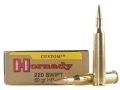 Hornady Custom Ammunition 220 Swift 60 Grain Jacketed Hollow Point Box of 20