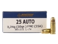 Product detail of Magtech Sport Ammunition 25 ACP 50 Grain Full Metal Jacket Box of 50