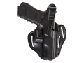 Bianchi 77 Piranha Belt Holster Right Hand Glock 19, 23 Leather Black