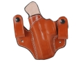 DeSantis Mad Max Tuckable Inside the Waistband Holster Left Hand Glock 17, 19, 22, 23, 31 Leather Tan