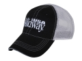 MidwayUSA Mesh Back Cap Cotton Black Front White Mesh Back