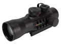 TRUGLO Xtreme Red Dot Sight 42mm 2x Red and Green 4-Pattern Reticle (10 MOA Dot, Crosshair with 1.5 MOA Peep, 3 MOA Center Dot, Crosshair) with Integral Weaver-Style Base Matte