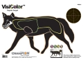 Champion VisiColor Coyote Target 16&quot; x 11&quot; Paper Package of 10