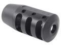 PRI Muzzle Brake Quiet Control 5/8&quot;-24 Thread AR-15 6.8mm Remington SPC Steel Matte