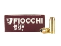 Fiocchi Shooting Dynamics Ammunition 40 S&amp;W 165 Grain Jacketed Hollow Point Box of 50