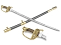 "Collector's Armoury Replica Civil War 1850 Staff & Field Officer's Sword 34"" Carbon Steel Blade Brass Mounted Scabbard"