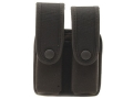 Uncle Mike&#39;s Double Magazine Pouch Glock 10mm, 45 ACP, HK 45 ACP Nylon Black