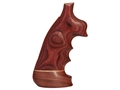 Hogue Fancy Hardwood Grips with Accent Stripe, Finger Grooves and Contrasting Butt Cap Taurus Medium and Large Frame Revolvers Square Butt Oversize