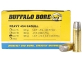 Buffalo Bore Ammunition 454 Casull 360 Grain Lead Long Wide Nose