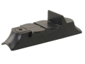 NECG Classic Express Rear Sight with Island Base 2-Leaf Large for .730&quot; to .830&quot; Diameter Barrel Steel Blue