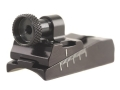 Williams WGRS-H&R Guide Receiver Peep Sight H&R 158, 258 Topper Single Shot Rifles, Ruger Mark II Aluminum Black