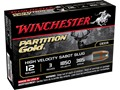 "Winchester Supreme Ammunition 12 Gauge 3"" 385 Grain Partition Gold Sabot Slug Case of 100 (20 Boxes of 5)"