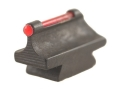 "Williams Fire Sight Rifle Bead .343"" Height, .250"" Width Steel Blue 3/32"" Fiber Optic Red"
