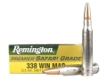 Remington Premier Ammunition 338 Winchester Magnum 225 Grain Swift A-Frame Box of 20