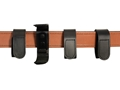DeSantis Cant-Lose Belt Keepers with Velcro and Support Clip Leather Black Package of 4