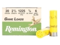 Remington Game Load Ammunition 20 Gauge 2-3/4&quot; 7/8 oz #6 Shot Box of 25