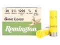 "Remington Game Load Ammunition 20 Gauge 2-3/4"" 7/8 oz #6 Shot Box of 25"