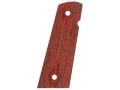 Hogue Grips 1911 Government, Commander with Extended Magazine Well Ambidextrous Safety Cut Checkered Cocobolo