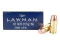 Speer Lawman Ammunition 45 ACP 200 Grain Total Metal Jacket Box of 50