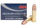 CCI Quik-Shok Ammunition 22 Long Rifle 32 Grain Plated Lead Hollow Point Box of 500 (10 Boxes of 50)