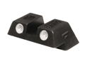 "Glock Rear Sight 6.1mm .240"" Height Slim Fit Glock 42 and 43 Steel Black Tritium"