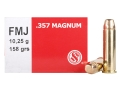 Sellier &amp; Bellot Ammunition 357 Magnum 158 Grain Full Metal Jacket Box of 50