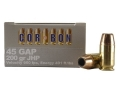 Cor-Bon Self-Defense Ammunition 45 GAP 200 Grain Jacketed Hollow Point Box of 20
