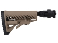 FAB Defense GLR16 Recoil Reducing Folding Collapsible Buttstock Assembly Polymer Joint VZ-58 Polymer