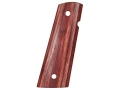 Hogue Fancy Hardwood Grips 1911 Government, Commander with Extended Magazine Well Rosewood Laminate